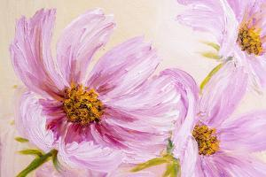 Cosmos-Flowers. Oil Painting by Valenty