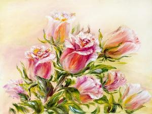 Roses, Oil Painting on Canvas by Valenty