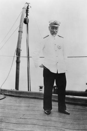 Admiral Togo Heihachiro on Board the Japanese Battleship 'Nuikasa, Early 20th Century