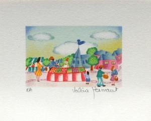 Jour De Marché Au Village by Valérie Hermant