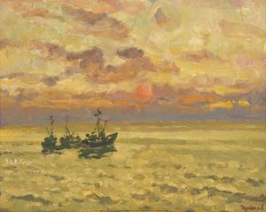 Golden Sunset by Valeriy Chuikov