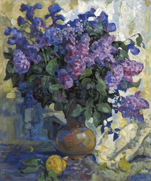 Lilac and Pear by Valeriy Chuikov