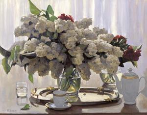 Lilacs with Summer Light by Valeriy Chuikov
