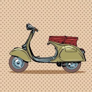 Vintage Scooter Retro Transport by Valeriy Kachaev