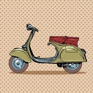 Vintage Scooter Retro Transport by Valeriy Kachaev