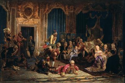 Jesters at the Court of Empress Anna Ioannovna, 1872 by Valery Ivanovich Jacobi
