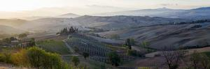 Valley at Sunrise, Val D'Orcia, Tuscany, Italy