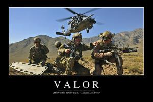 Valor: Inspirational Quote and Motivational Poster