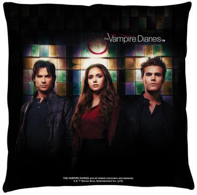Vampire Diaries - Stained Glass Throw Pillow