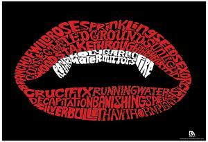 Vampire Text Poster
