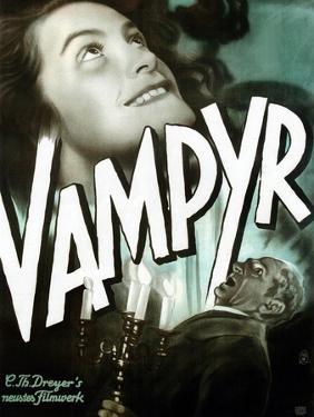 Vampyr, German poster art, Sybille Schmitz, Maurice Schutz, 1932