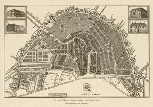 Map of Amsterdam by Van Brouwer