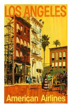 Los Angeles - American Airlines - Hollywood California Movie Set by Van Kaufman