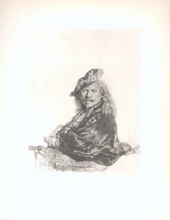 Self-Portrait Leaning on a Stone Sill by Van Rijn Rembrandt