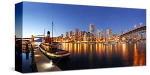 Vancouver Canada - Lights Dusk