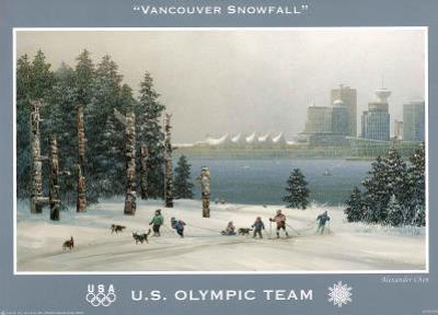 Vancouver Snowfall U.S. Olympic Team