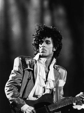 Prince, Concert Performance, 1984 Photo by Vandell Cobb