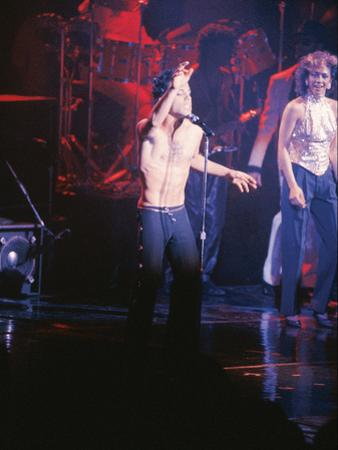 Prince, Performing Shirtless, March 1986 by Vandell Cobb