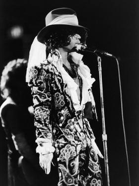 Prince Sings in Concert, 1984 by Vandell Cobb