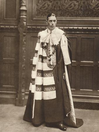 'The Duke of York in robes of the House of Lords', 1920