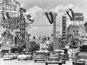 Various Casino Signs along Las Vegas Street