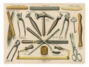 Various Tools Used by a Shoemaker or Cobbler