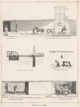 Various Workings of a Coal Mine in Northumberland England