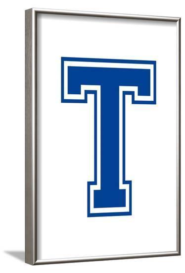 Varsity Letter T Make Your Own Banner Sign Print Poster--Framed Poster