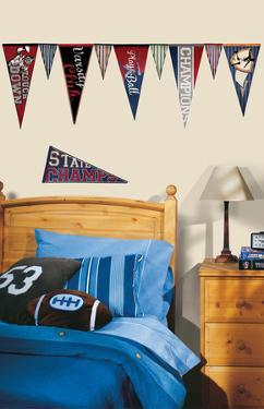 Varsity Pennants Peel and Stick Wall Decals