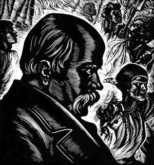 Taras Shevchenko, 19th Century Ukrainian Poet and Artist, 1960 by Vasili Kassiyan