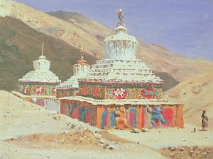 The Death Memorial in Ladakh, 1875 by Vasili Vasilievich Vereshchagin