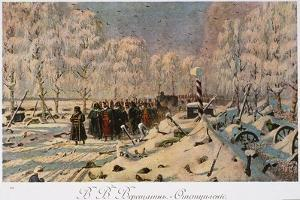 The French Retreat from Moscow in October 1812, C.1888-95 by Vasili Vasilievich Vereshchagin