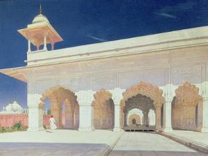 Throne Room of the Shah Jahan Fort in Delhi, 1875 by Vasili Vasilievich Vereshchagin