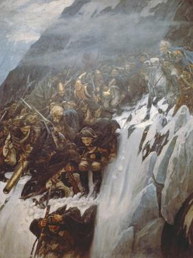 Suvorov's Army Crossing the Alps in 1799, 1899 by Vasilii Ivanovich Surikov