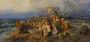 The Israelites Crossing of the Red Sea, Second Half of the 19th C by Vasilii Kotarbinsky