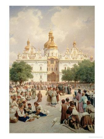 The Great Church of Kievo-Pecherskaya Lavra in Kiev, 1905