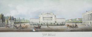 The Saint Petersburg Imperial Bolshoi Kamenny Theatre by Vasily Semyonovich Sadovnikov
