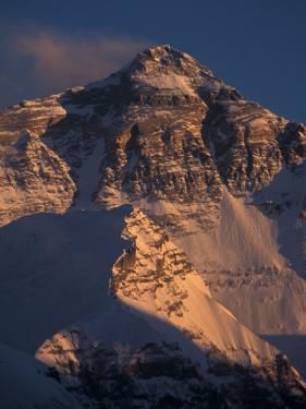 Mt. Everest at Sunset From Rongbuk, Tibet by Vassi Koutsaftis