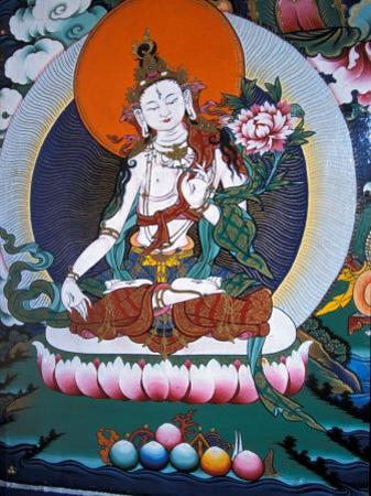 White Tara from Monastery Wall, Lhasa, Tibet by Vassi Koutsaftis