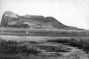 Gibraltar Rock from Campo, Early 20th Century by VB Cumbo