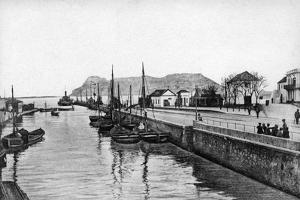 The Rock of Gibraltar from Algeciras, Spain, Early 20th Century by VB Cumbo