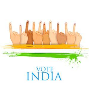 Illustration of Hand with Voting Sign of India by vectomart