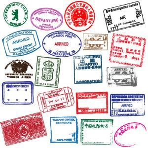 Various Visa Stamps From Passports From Worldwide Travelling by VECTOR HERE