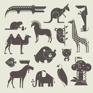 Animals Set by vector pro