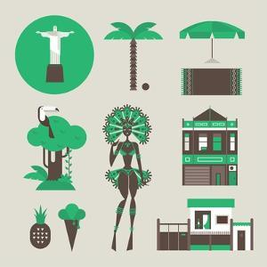 Brazillian Icons by vector pro