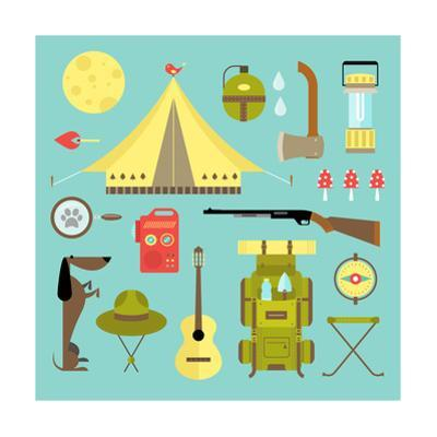 Camping Icons by vector pro