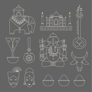 Indian Icons by vector pro