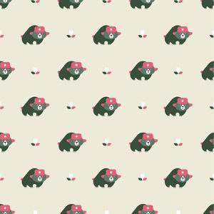 Rusian Bear Seamless Pattern by vector pro