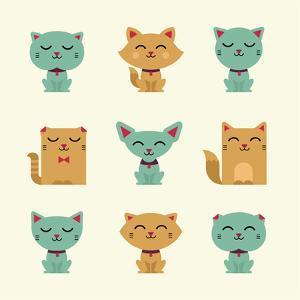 Vector Cats by vector pro