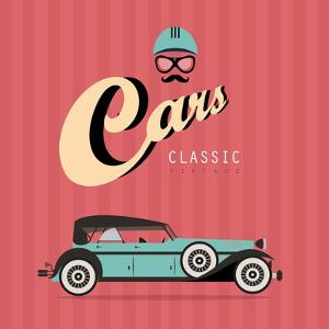 Vintage Classic Car by vector pro